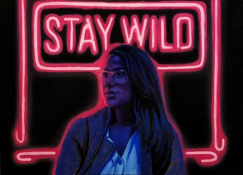 Stay Wild 9x12 Oil Canvas Part  - grimhearts1985   ello