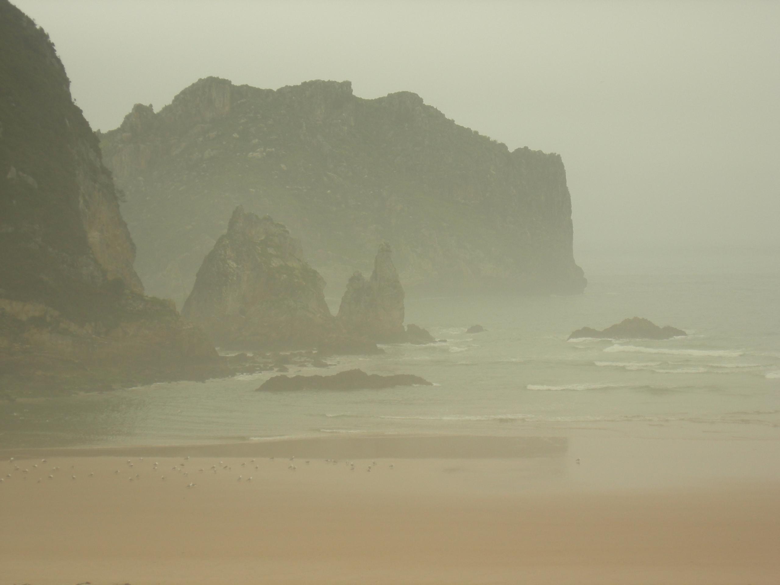 Zumaia, Spain - beach, fog, photography - ivop | ello