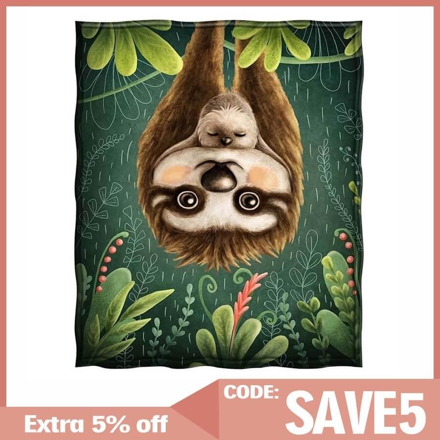 Jekeno Sloth Mom Throw Blanket  - ivysmith | ello