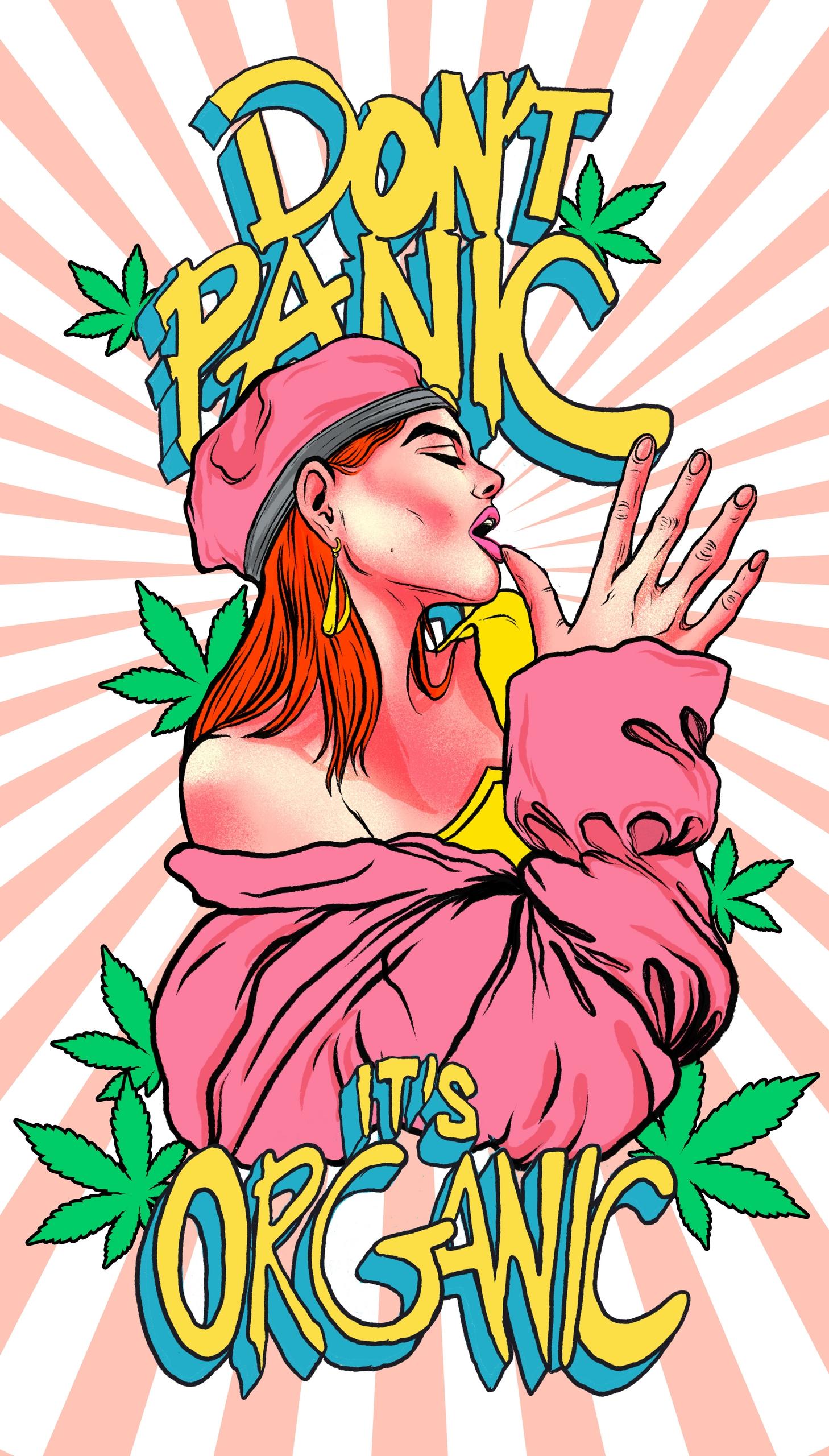 Illustration Stoner Girl hand w - rahuljonline | ello