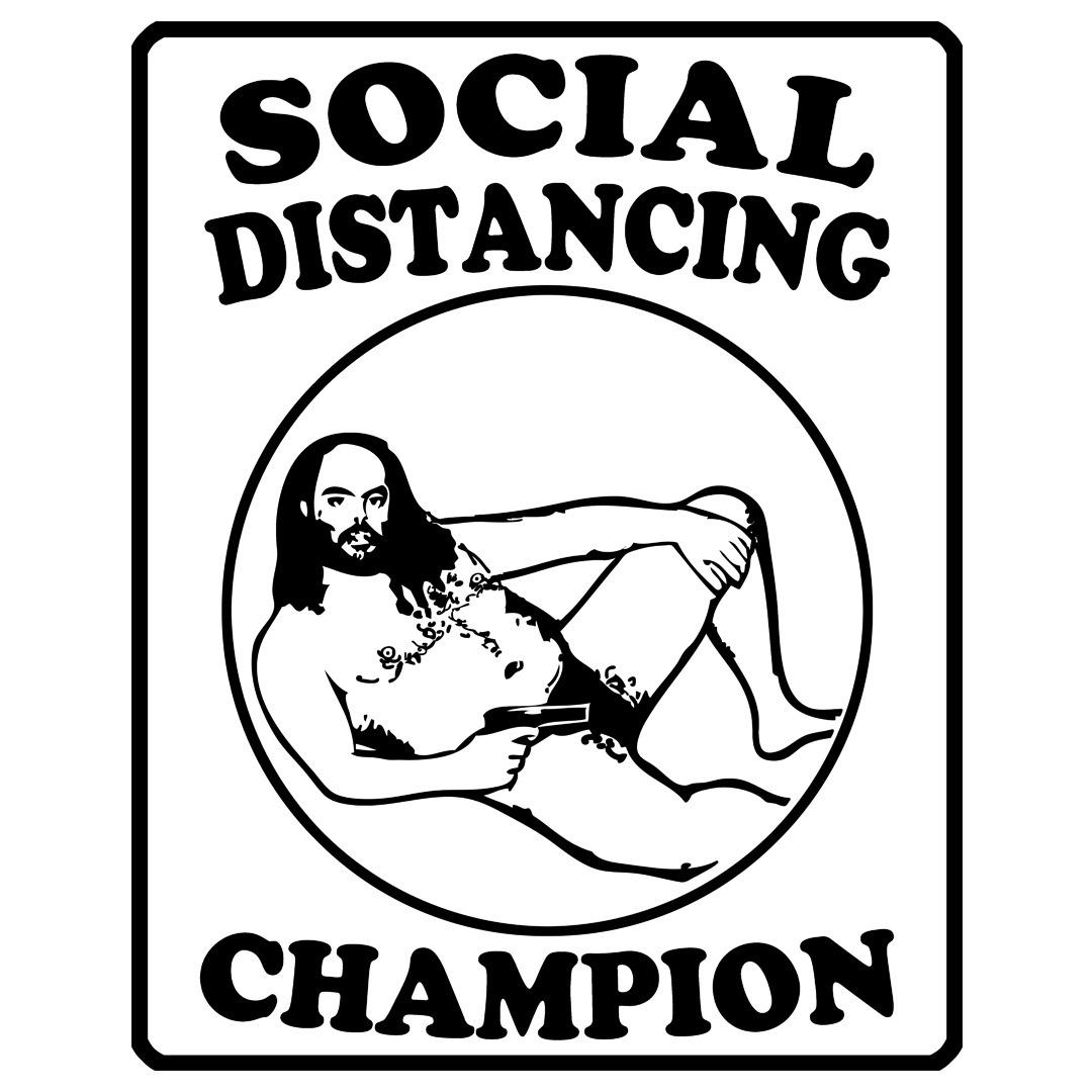 Social Distancing Champion Guy - electrovista   ello