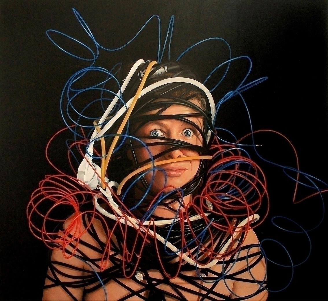 Lore entangled, 120 110cm, oil  - tanyaatanasovavisualarts   ello