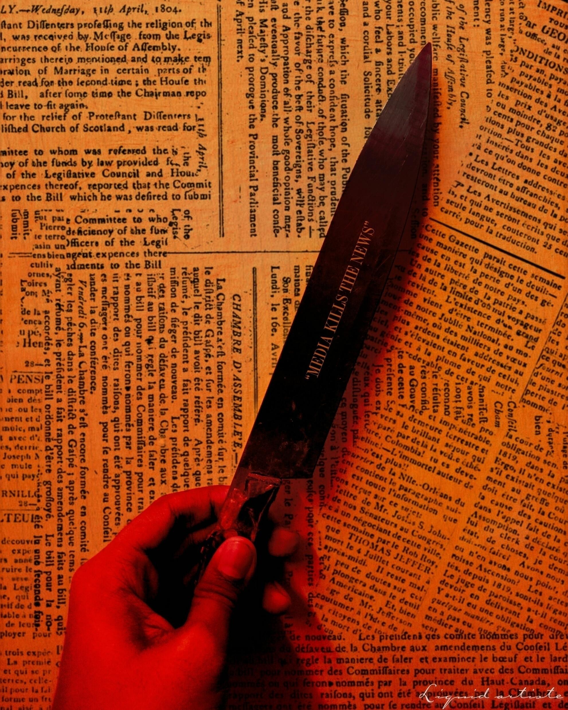 MEDIA KILLS NEWS  - artisteworld - liquidartiste | ello