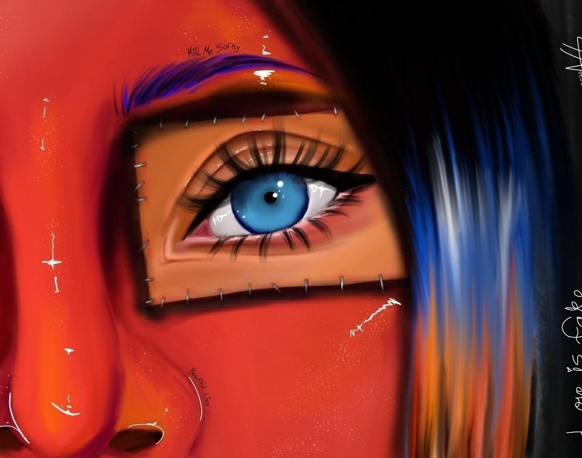 Post - digitalart, art, face, profile - broke_withnoaesthetic   ello