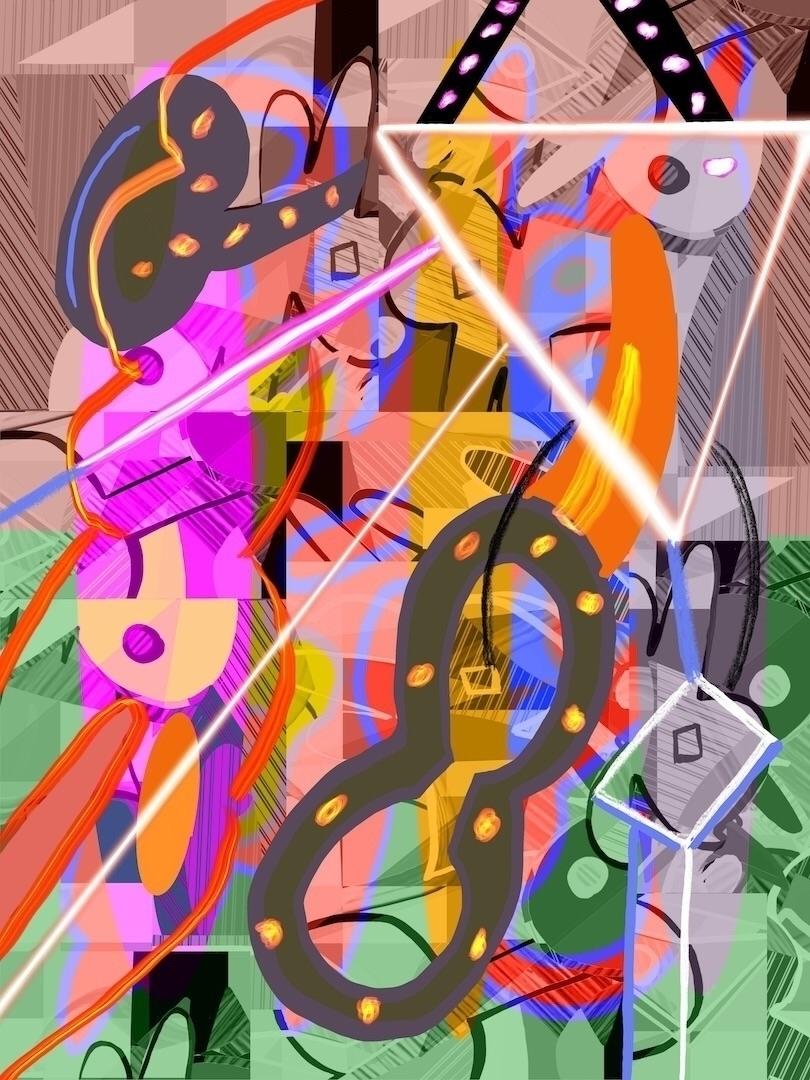 Saddle 2020, digital painting,  - tonyvandenboomen | ello