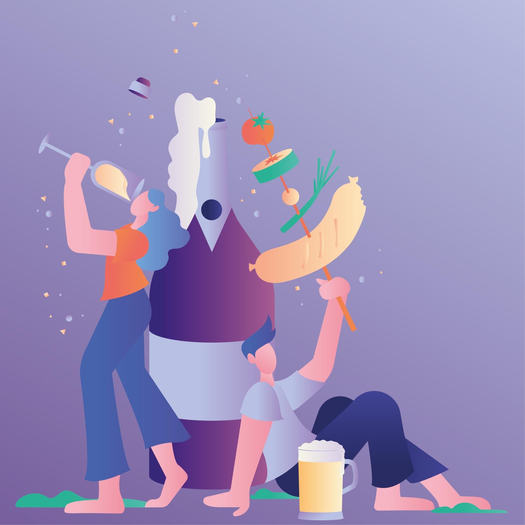 Illustration invitation card - leilasekandari | ello