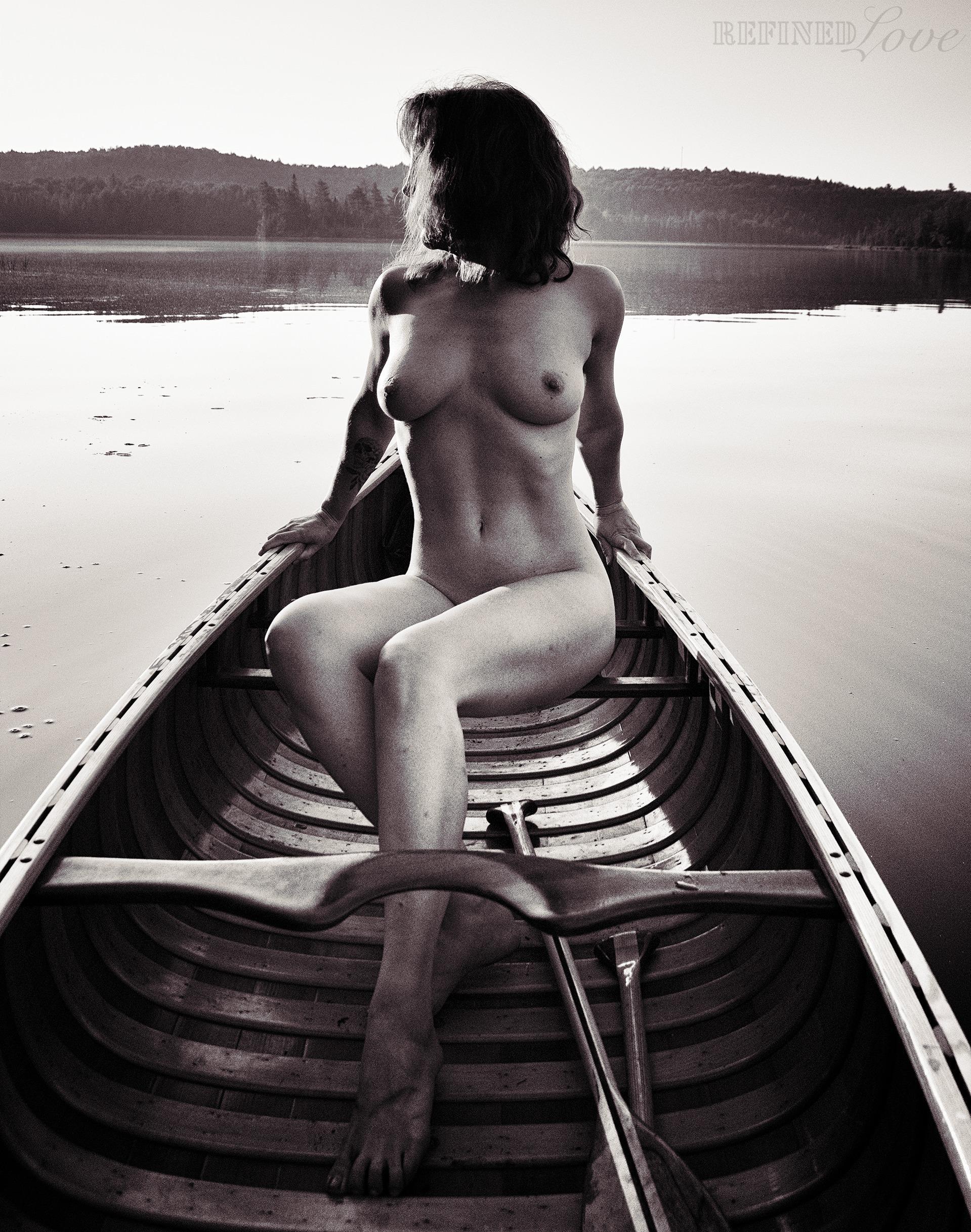 (2020 - BlackAndWhite, Nude, CanoeingNaked - refined-love | ello