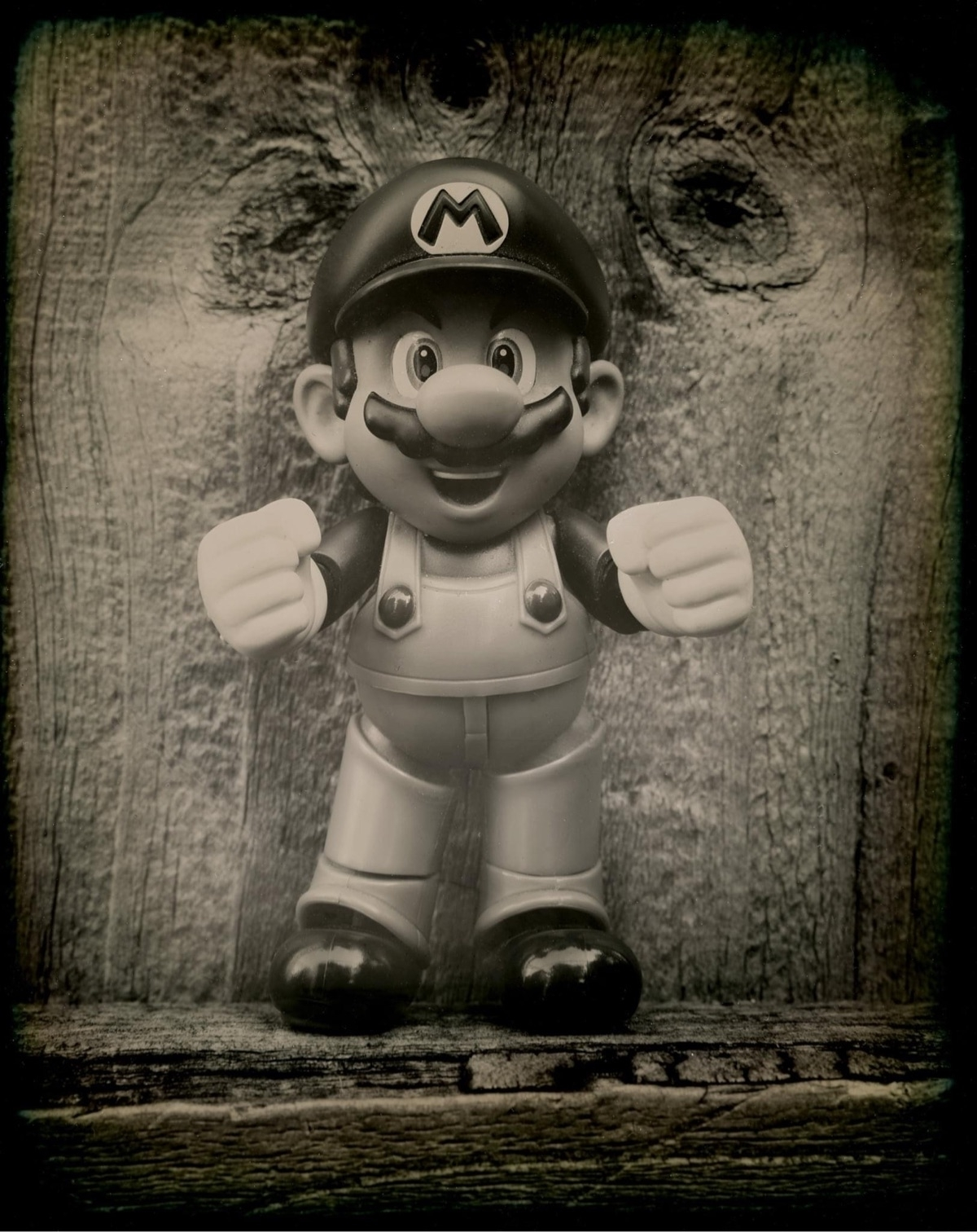 Mario, Dry Plate Ambrotype, bla - leelira   ello