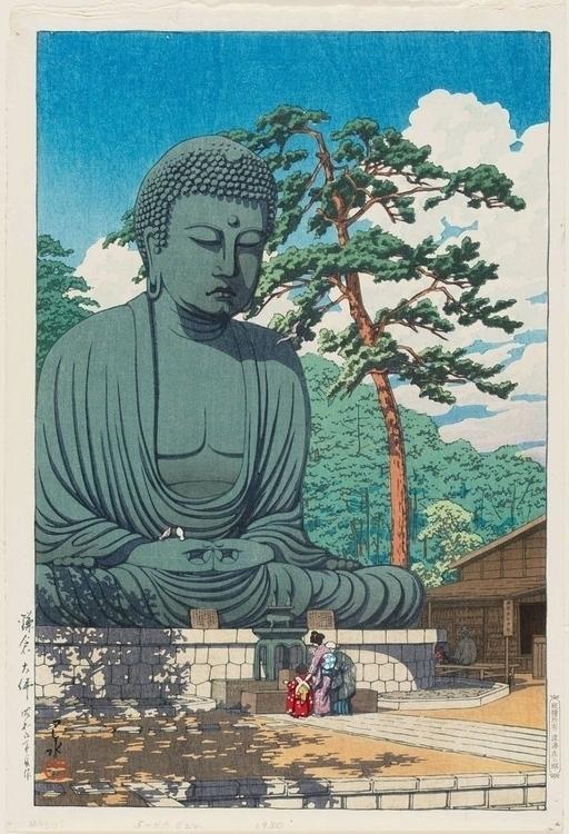 The Great Buddha of Kamakura by Kawase Hasui 1930 large