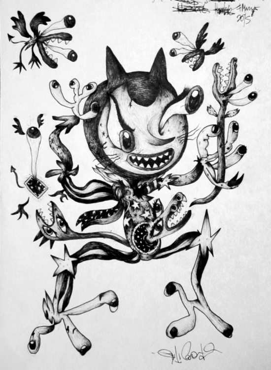 Brujo illustration drawing ink  - andrecoronado | ello