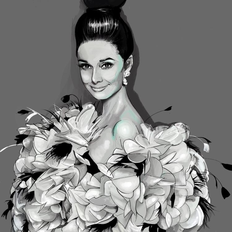Hepburn Illustration Me fashion - fmonroyr   ello