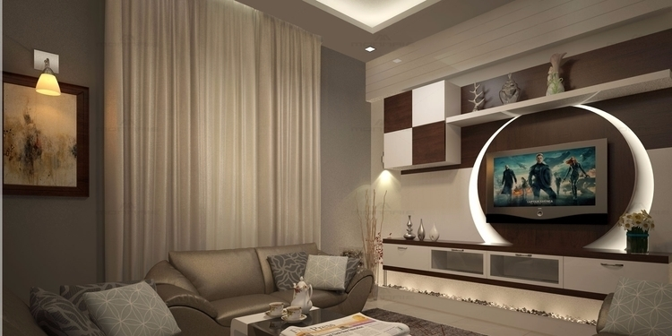 By choosing the right spot for your television you can for 1 bhk flat decoration idea