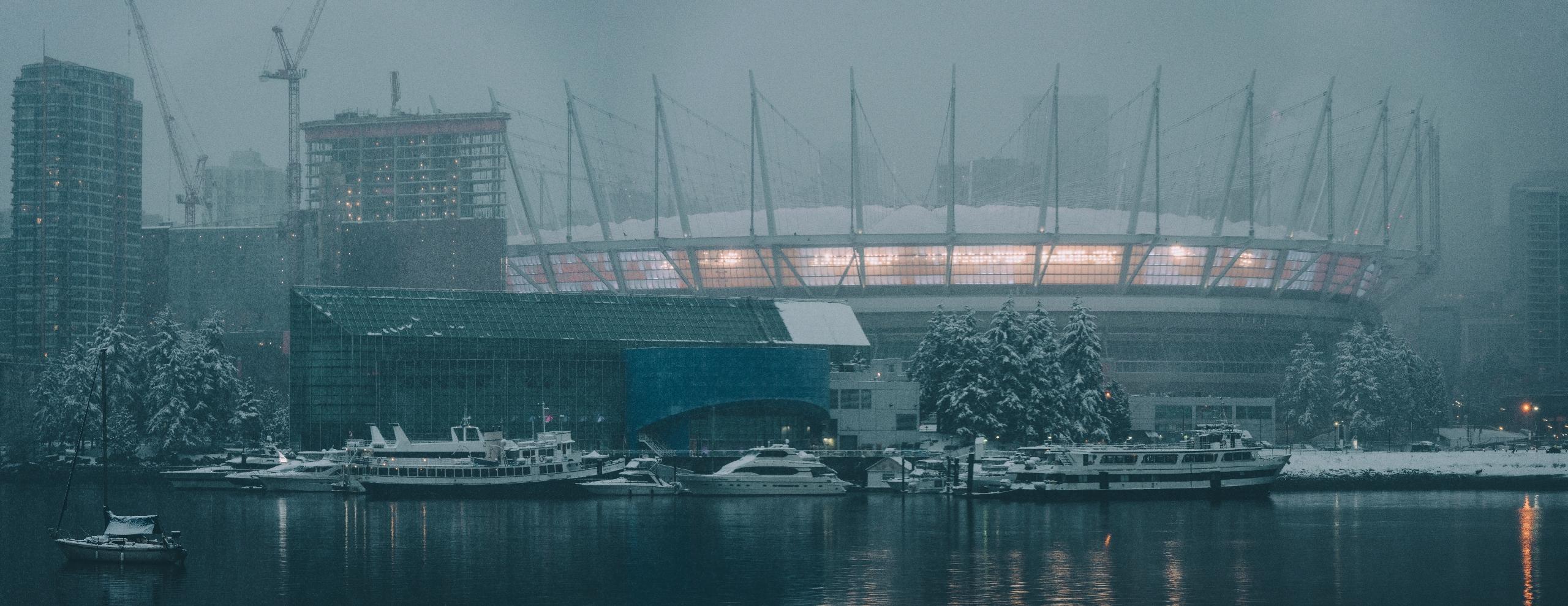 BC Place, Cold - snow Vancouver - rhinocerous | ello