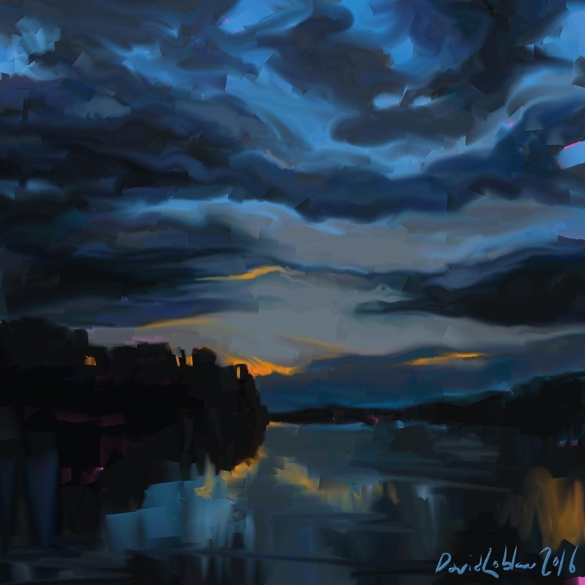 landscape ottawa river night cr - lobber66 | ello