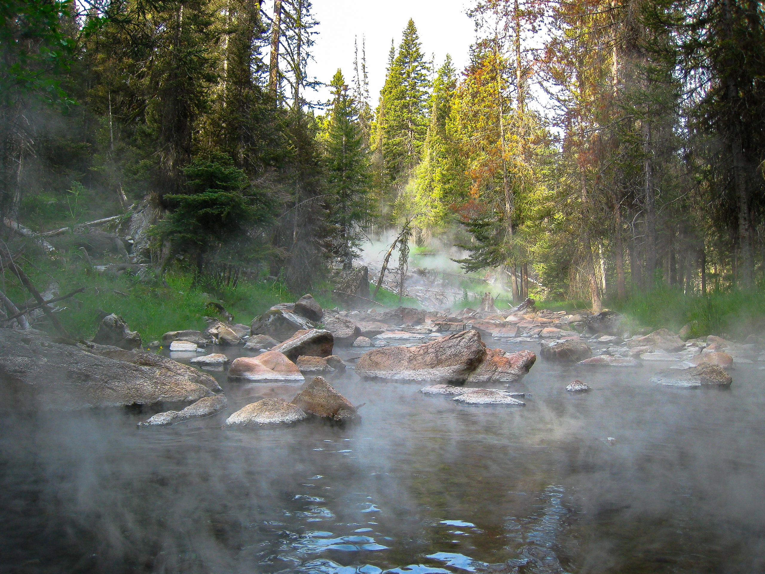 Idaho, geothermal water pours h - mark | ello