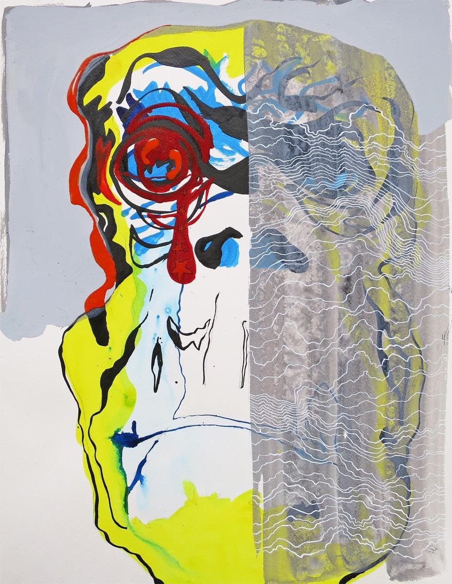 Monkey King XVIII, acrylic ink  - marijebijl | ello