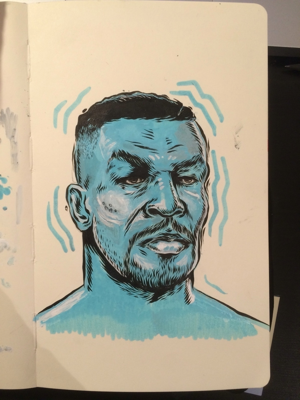 Iron Mike Sketch - illustration - dudeitsallama | ello