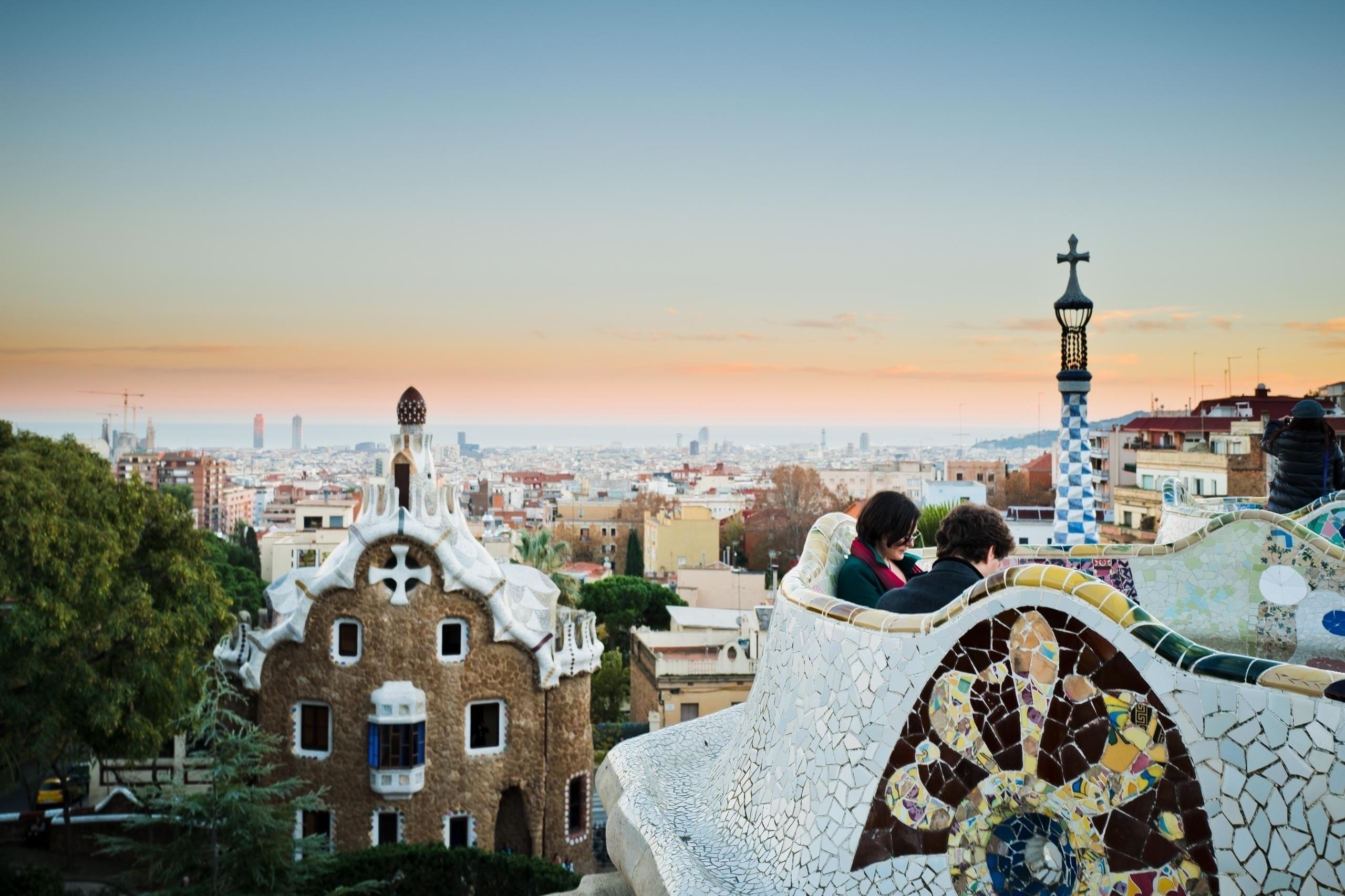 Sunset Park Guell. Barcelona, S - nickdelrosario | ello