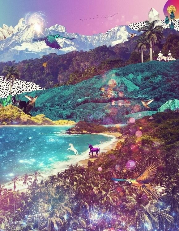 Digital Collage Estereo Beach F - carolinanino | ello