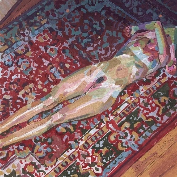 Awesome gouache painting Albert - luiferreyra | ello