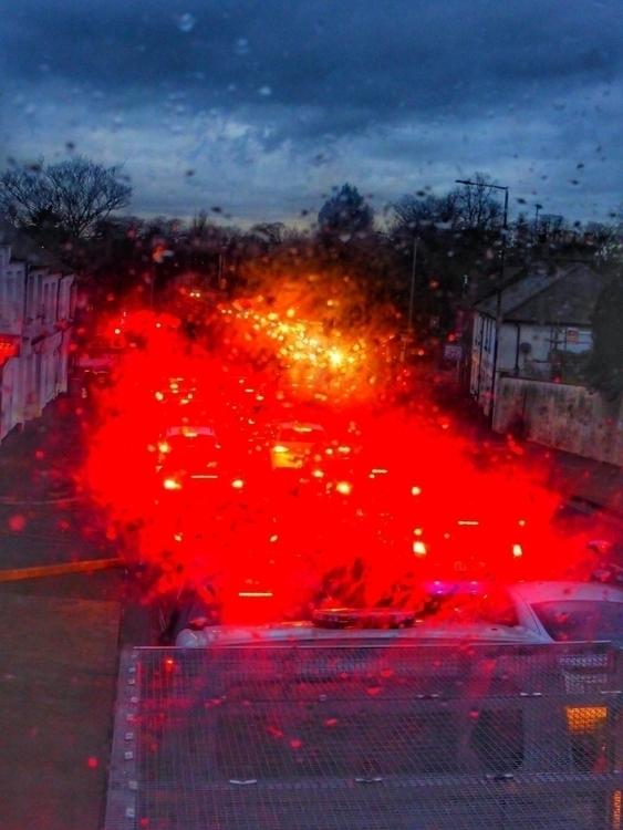 Traffic rain spattered window - photography - paulbines | ello