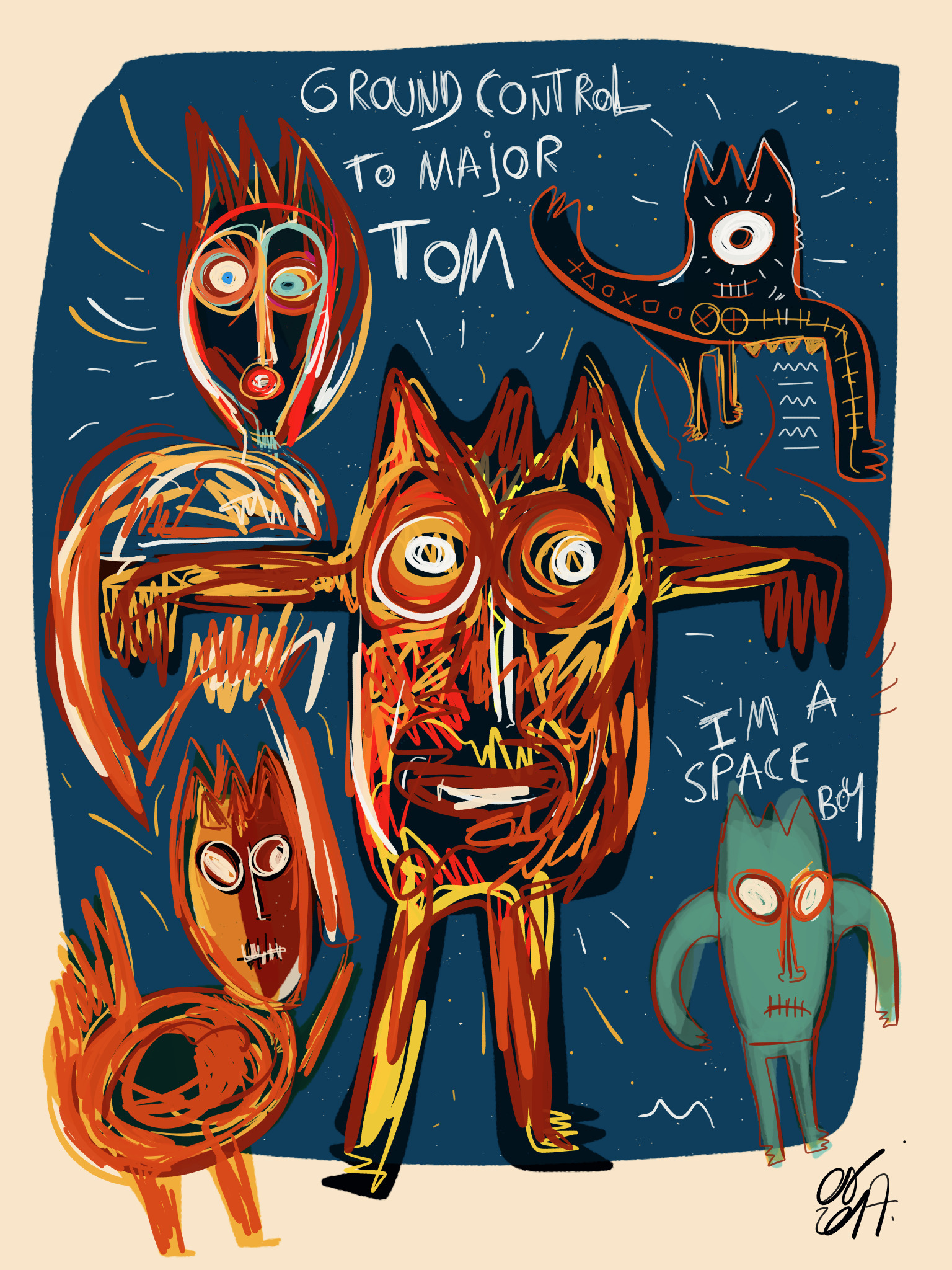 Street art tribute David Bowie  - signorino | ello