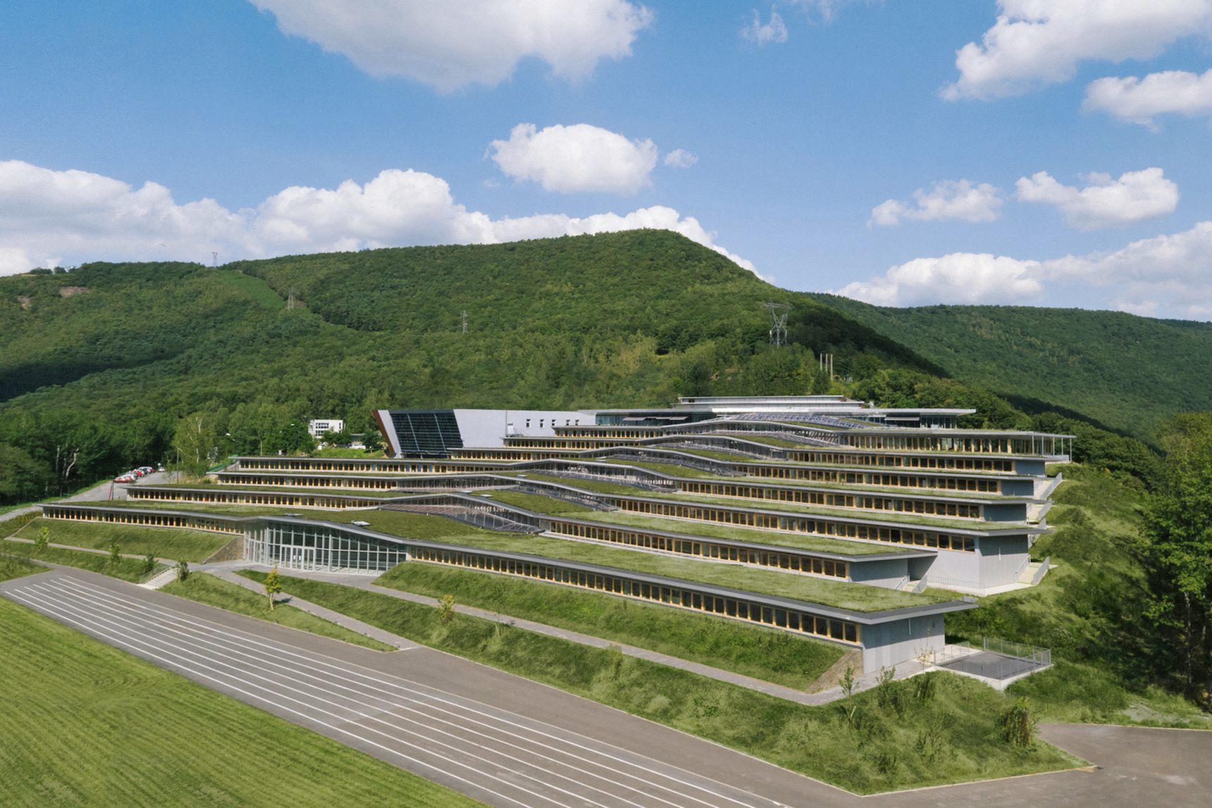 Incredible green-roofed school  - red_wolf | ello