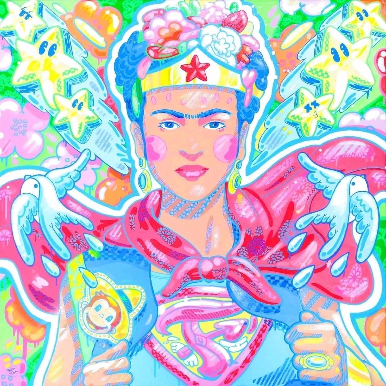 super powers Mixed media canvas - beatoa   ello
