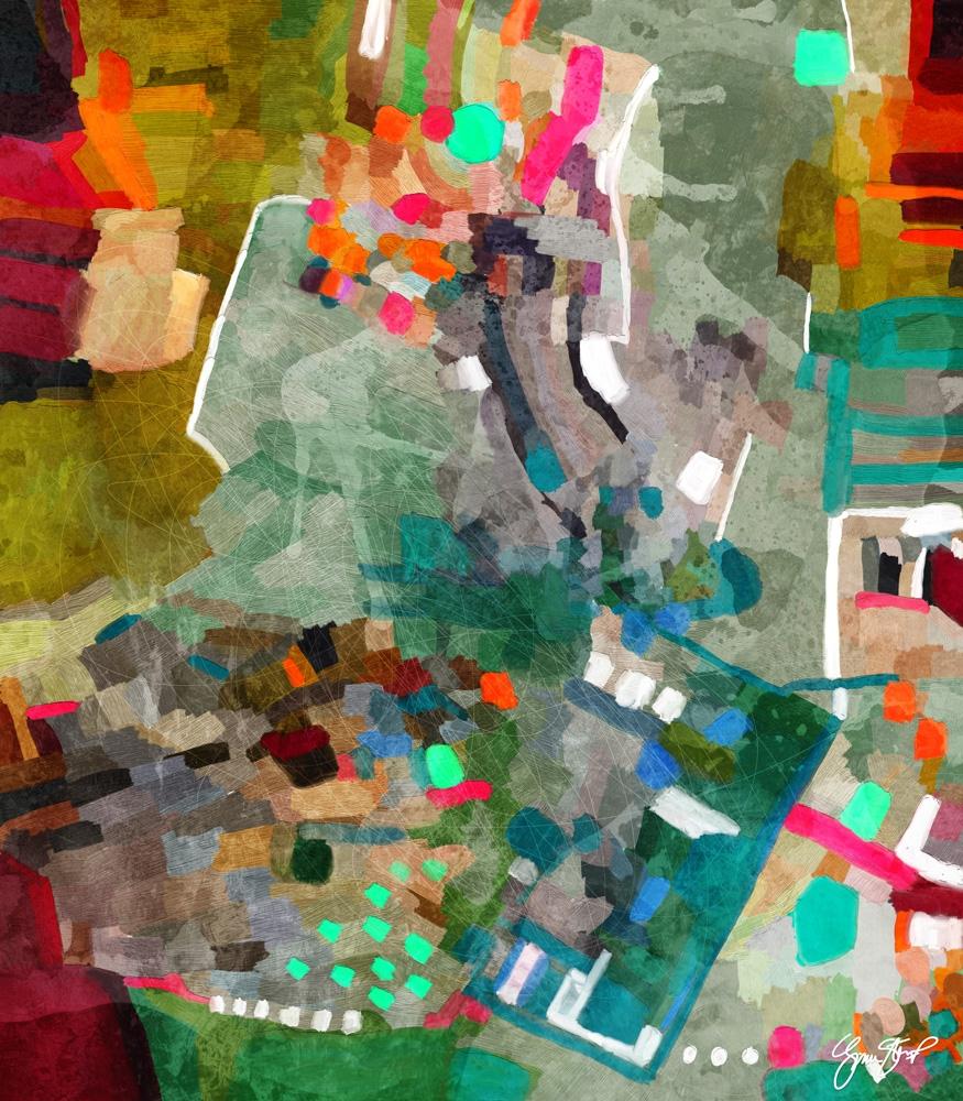 Closer Beginning - mixedmedia, abstractart - ginastartup   ello