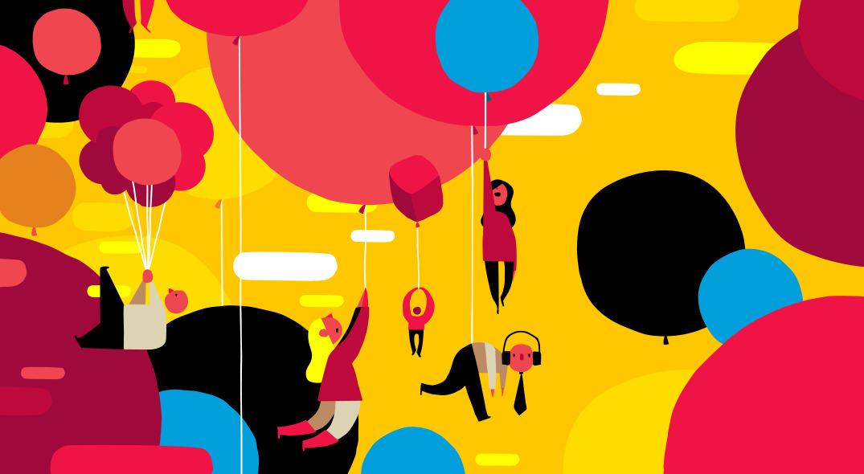 balloons audible range - illustration - ebencom | ello