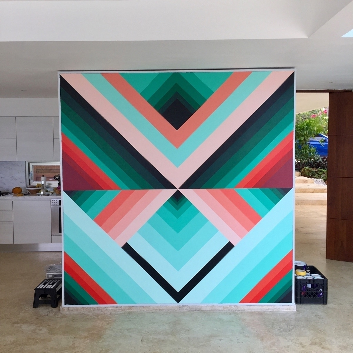 residential mural action - finished - dalek   ello