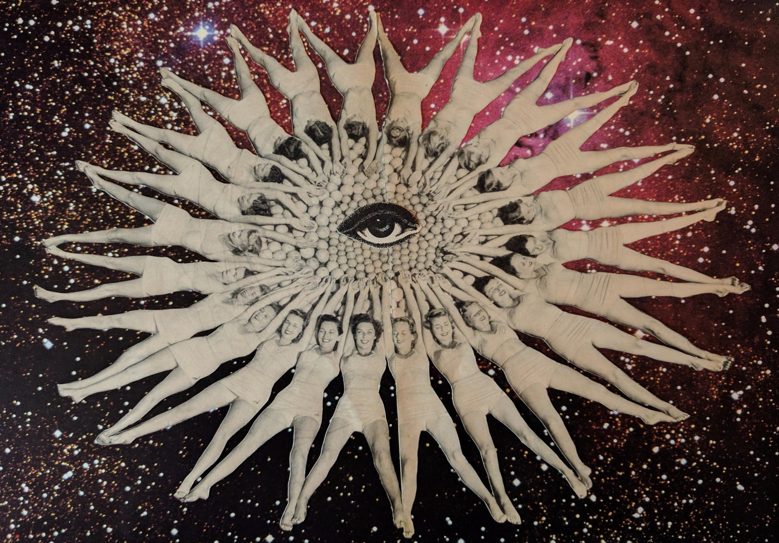 idk, fun, girls, eye, space, collage - marieconigliaroart | ello