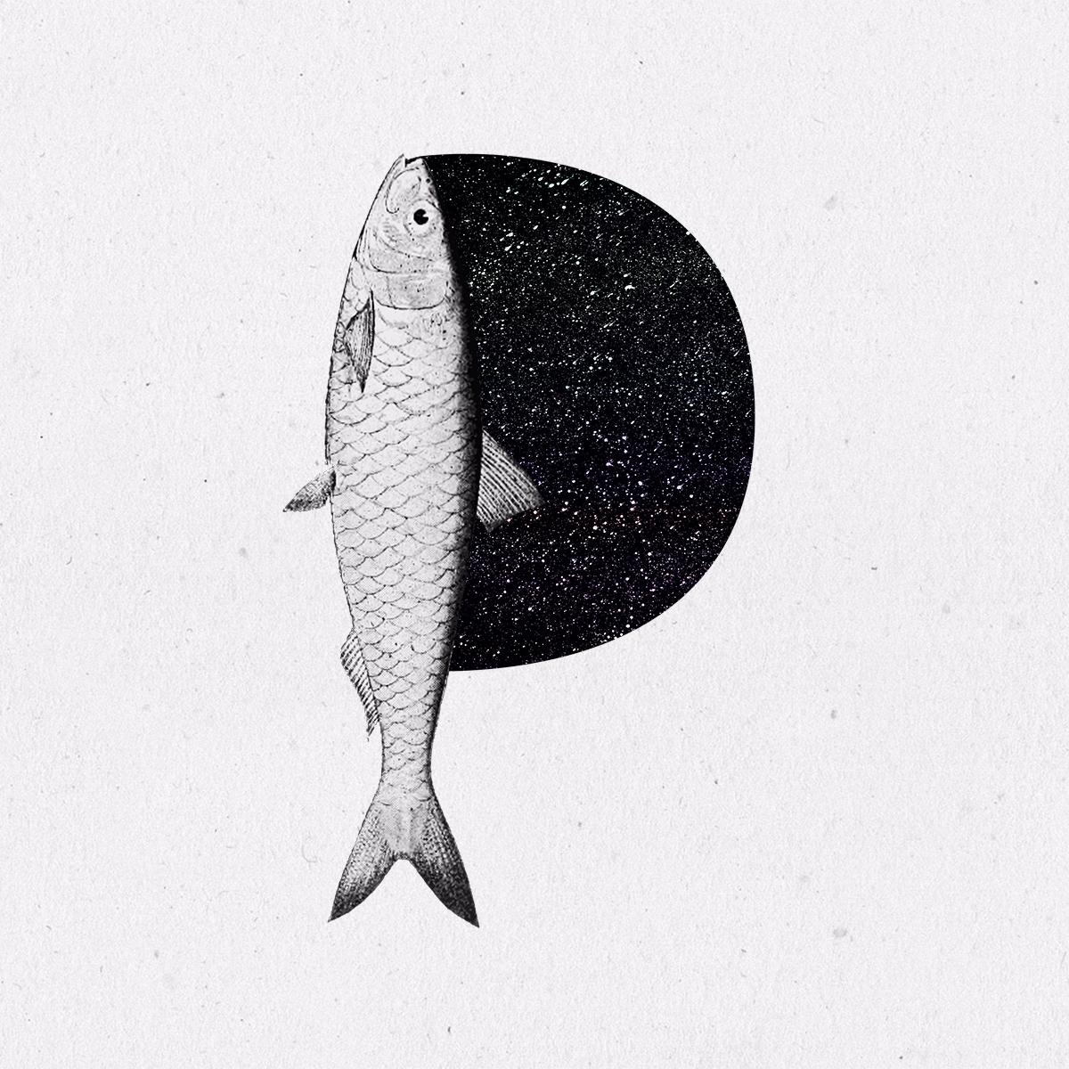 Pisces - 36daysoftype, 36days_p - llanwafu | ello