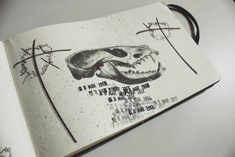 Pen,charcoal,transfer Moleskine - sanchezisdead | ello