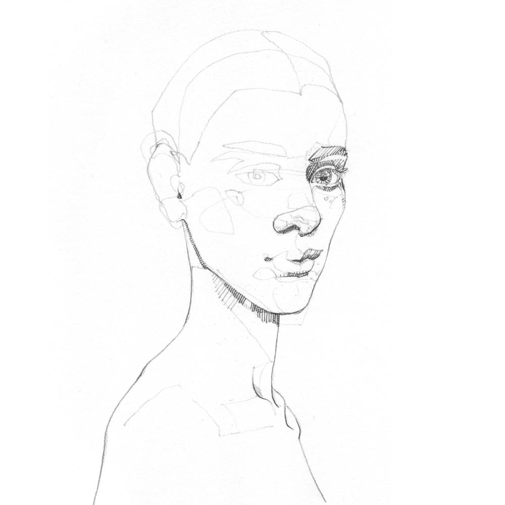 elloart, sketch, portrait, graphite - jasonthielke   ello