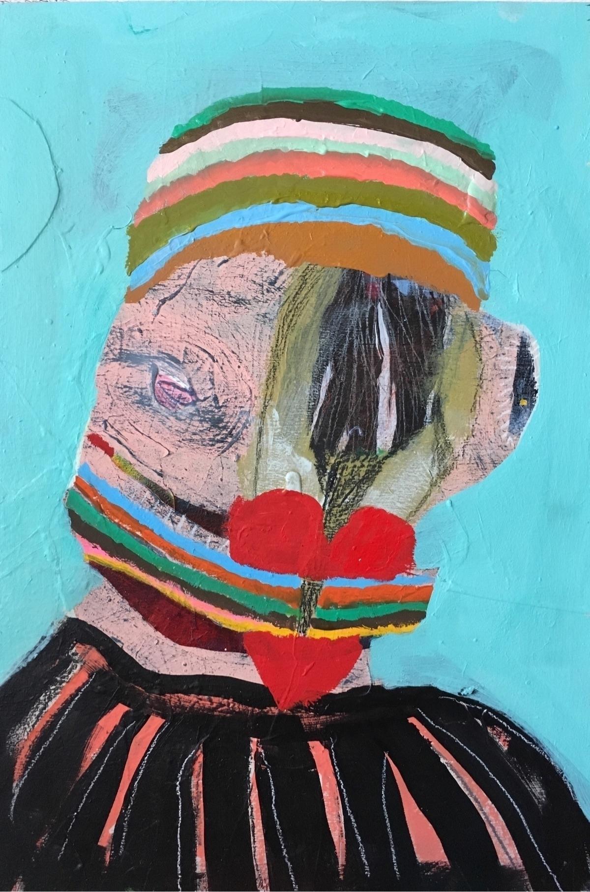 Heart gag acrylic, pencil gouac - melissamonroeart | ello