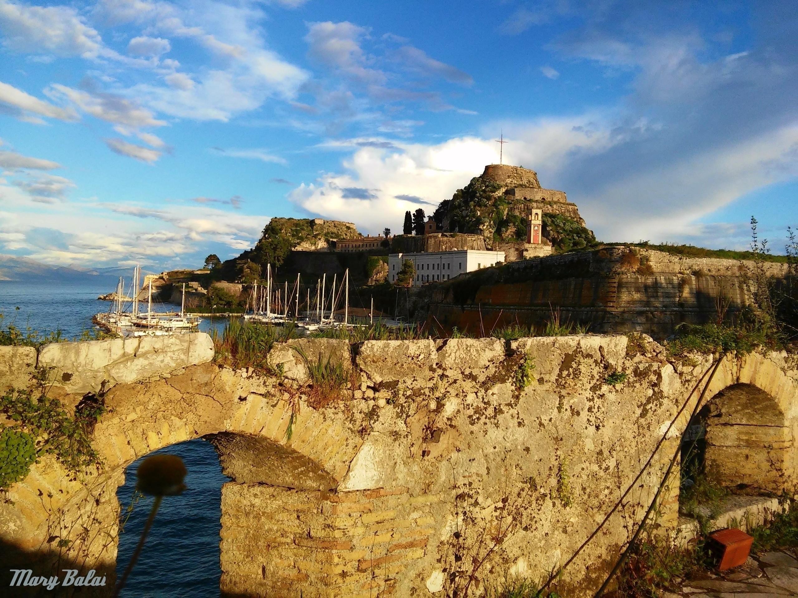 castle walls! Corfu, Greece - castle, - mairoularissa   ello