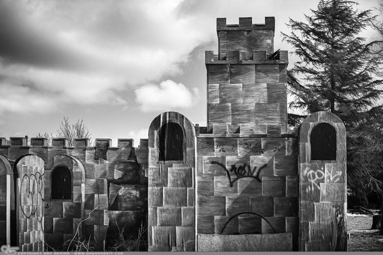 Castle (PAD Mini golf defunct - photography - dangrabbit-photography   ello