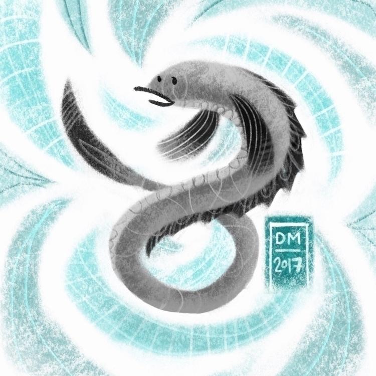 Eel - illustration - doodlesmarc | ello