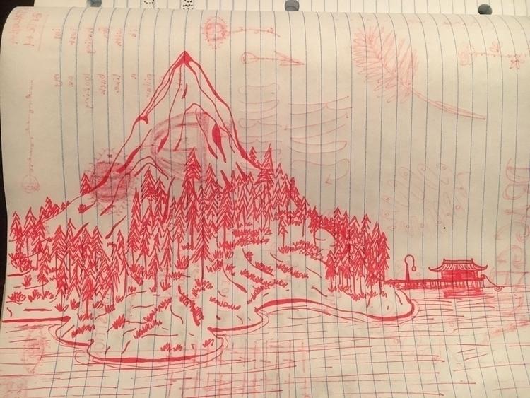 serenity - mountain, sketch - kaseyjn | ello