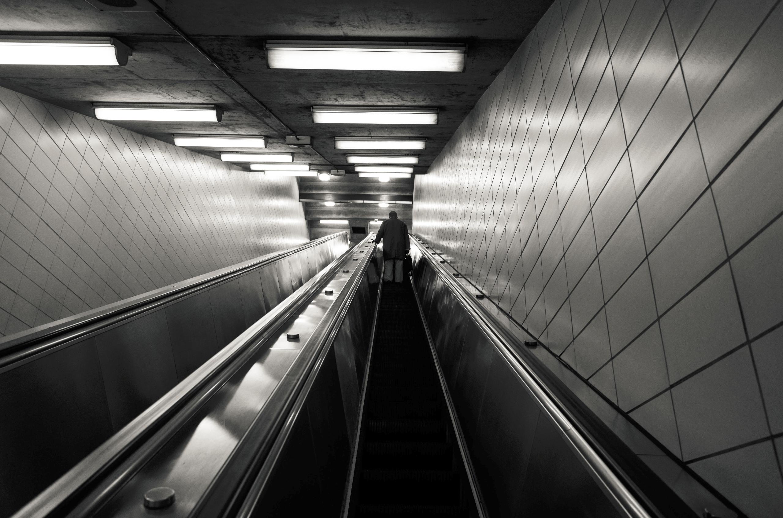 Lonely traveler escalator, Toro - seanrasmussen   ello