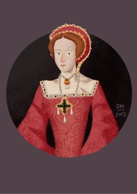 Queen liz 1 - illustration - doodlesmarc | ello