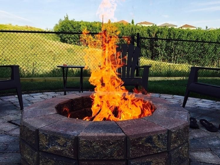 Steps firepit spring coming, ti - vannesatucker   ello