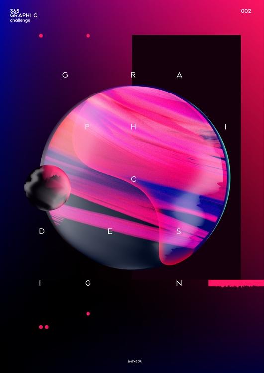 art, graphic, graphicdesign, planet - smykcur   ello