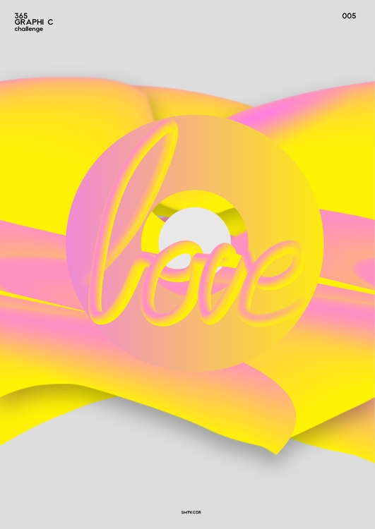 art, graphic, color, love - smykcur   ello