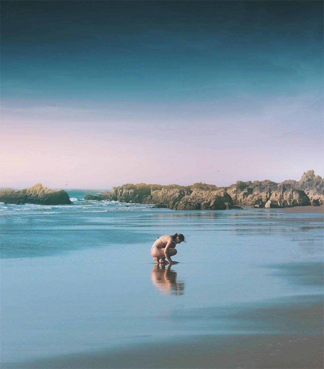 play sand - Goa, blue, sky, beach - riazhassan | ello