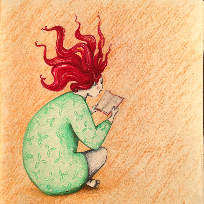 Electrifying books - sketching, coloredpencils - sonjastangl | ello
