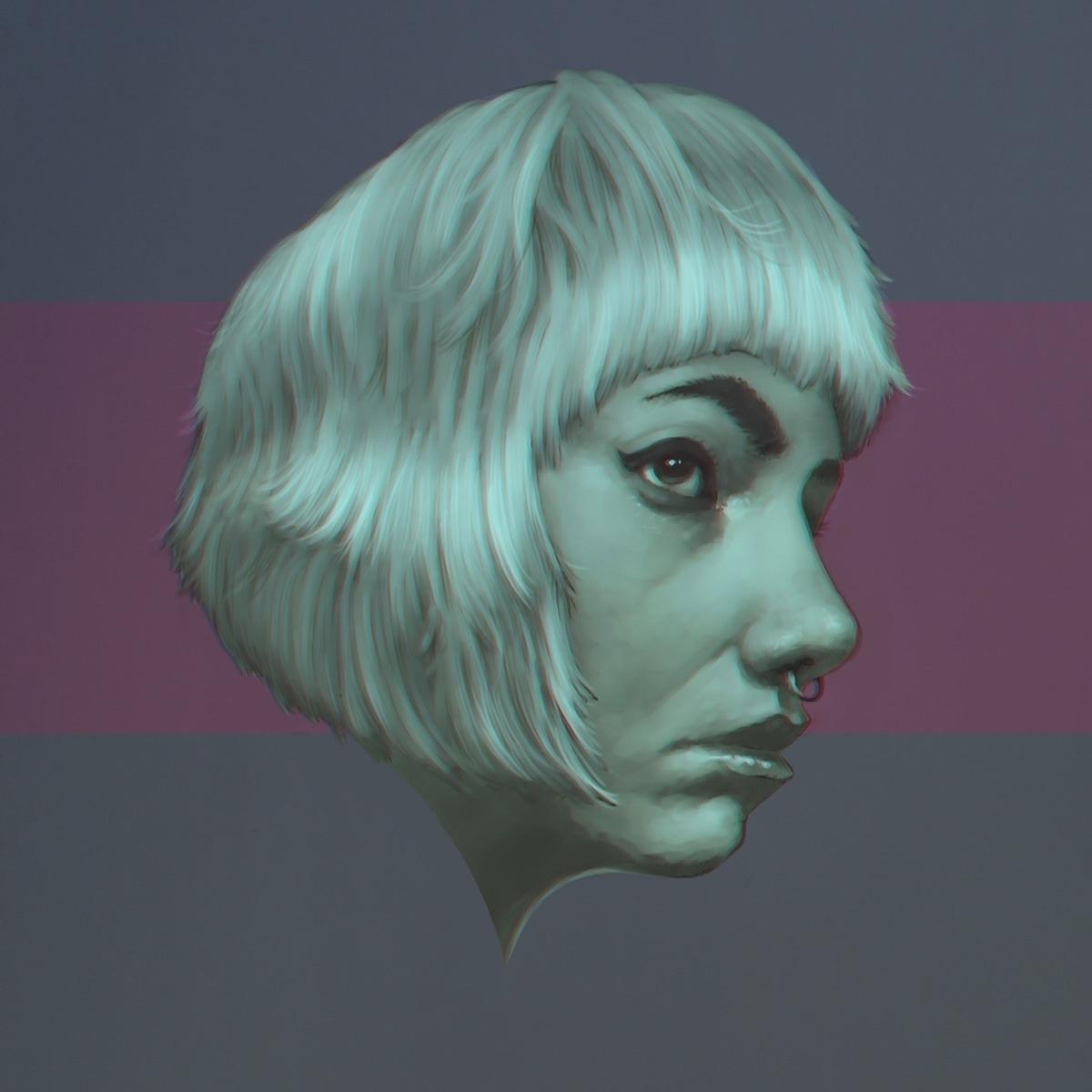 Finished digital portrait. Star - astrosim | ello