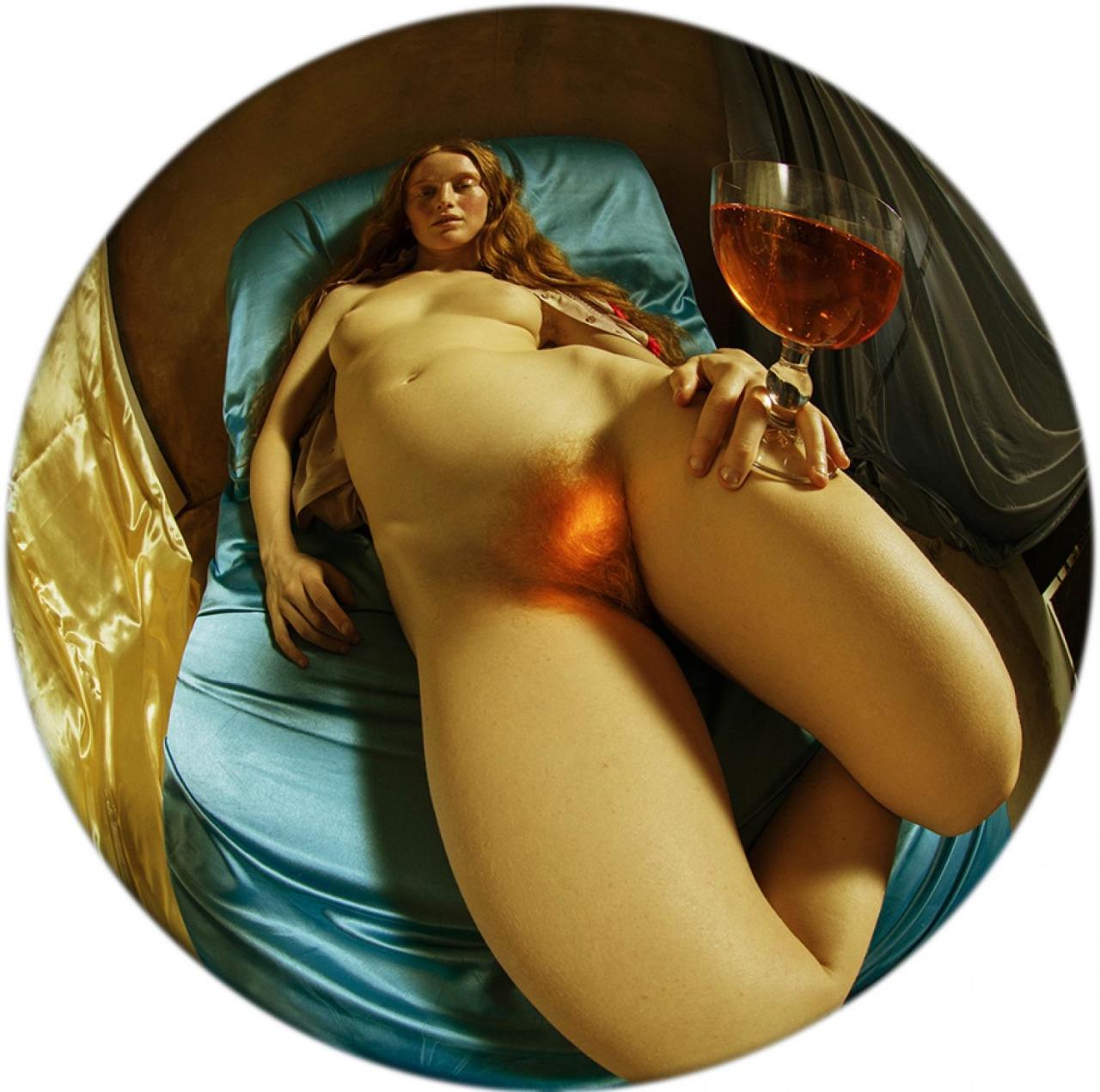 redhead, fisheyelens, wine, nsfw - ukimalefu | ello