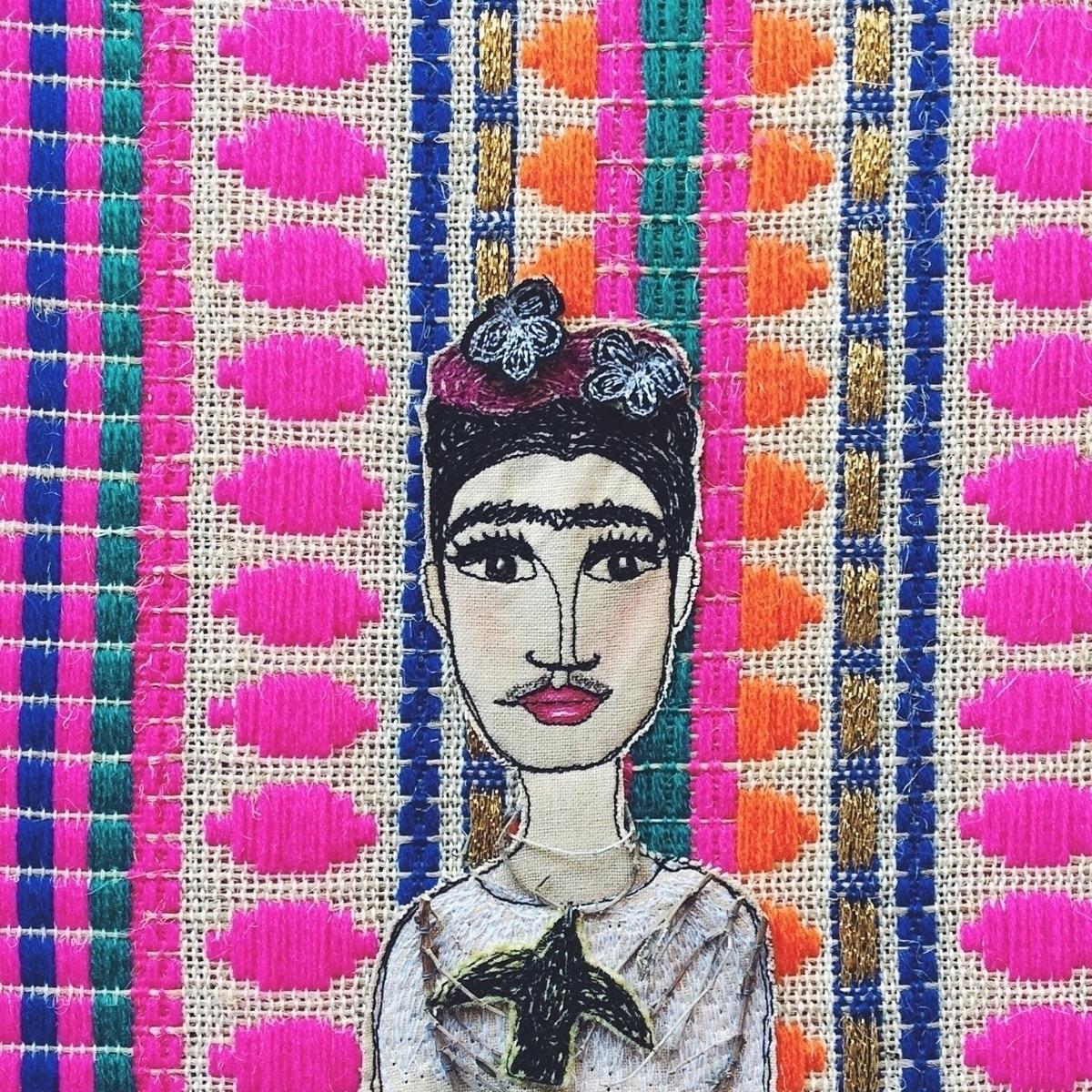 textile art based Portrait Thor - alittlevintagedoll | ello